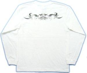 画像4: トライバル 和柄 長袖Tシャツ 刺青デザインの紅雀(名入れ刺繍可)通販 和柄服