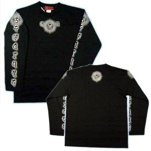 画像2: 毘沙門天 梵字 長袖Tシャツ 刺青 デザイン 梵字タトゥー Tシャツの袖にデザイン (名入れ刺繍可)通販 和柄服