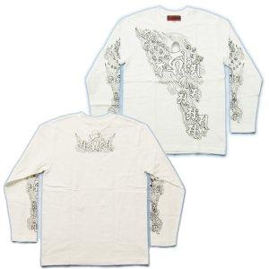 画像3: 阿弥陀来迎 梵字 長袖Tシャツ 刺青 デザイン Tシャツの袖にデザイン (名入れ刺繍可)通販 梵字タトゥー