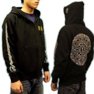 画像2: 天星宮曼陀羅 梵字 スエット パーカー 刺青デザインのマハースカ(名入れ刺繍可)通販 和柄服