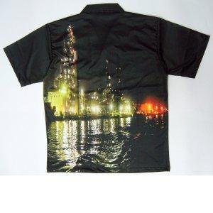画像2: 横浜の工場夜景アロハシャツ 当店オリジナル