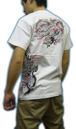 画像5: 紅雀 和柄 【麒麟 雲龍】聖獣 Tシャツ 刺青 和彫り デザイン 和柄服