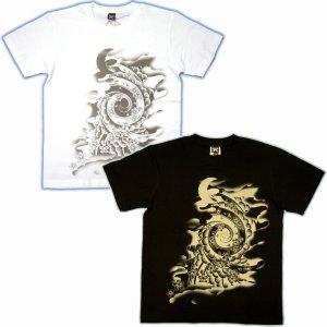 画像4: 桜吹雪と竜王太郎の和柄Tシャツ通販