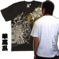 鳳凰と牡丹の刺青デザインTシャツ通販