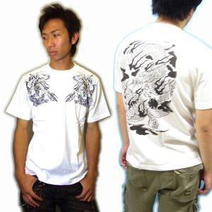 画像5: 雷神騎龍和柄Tシャツ通販