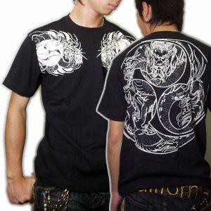 画像2: 巴火龍の和柄Tシャツ通販