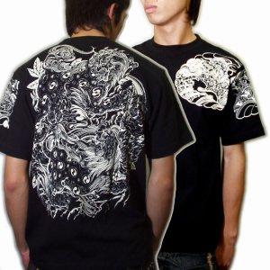 画像4: 唐獅子の和柄Tシャツ通販