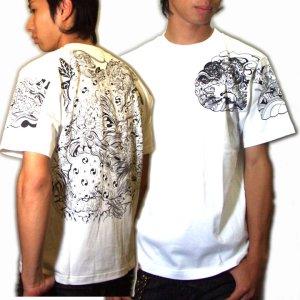 画像5: 唐獅子の和柄Tシャツ通販