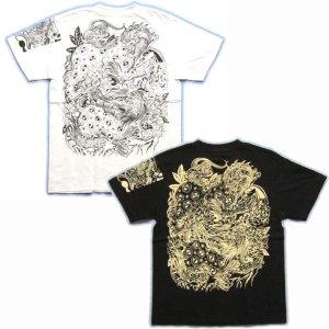 画像3: 唐獅子の和柄Tシャツ通販