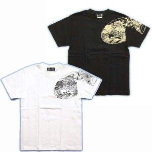 画像2: 唐獅子の和柄Tシャツ通販
