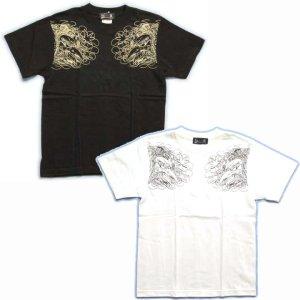 画像2: 紅雀 和柄 【牛若丸と弁慶】 武将 Tシャツ (名入れ刺繍可)通販 刺青 和彫り デザイン