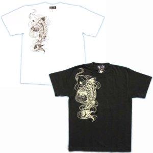 画像2: 鯉の滝登り登龍門和柄Tシャツ通販