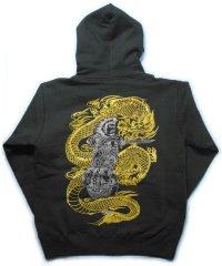金龍と須佐之男命 和柄 パーカー スエット刺青デザインの紅雀(名入れ刺繍可)通販 和柄服
