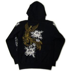 画像3: 金鳳凰 和柄 パーカー スエット刺青デザインの紅雀(名入れ刺繍可)通販 派手 パーカー 和柄服