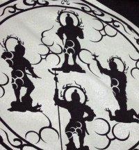 四天王 和柄 パーカー スエット刺青デザインの紅雀(名入れ刺繍可)通販